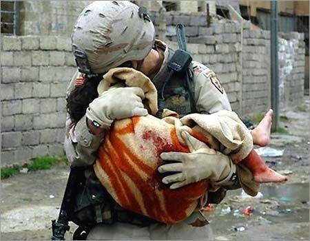 Soldier and Baby - Powerful, Powerful Image