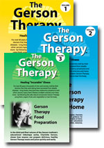 Gerson Diet Instructions (DVDs) - Includes Food Preparation, Patient Stories, Information About the Diet and Dr. Max Gerson. This is a very useful collection.