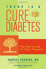 "Diabetes has become a seemingly unstoppable national epidemic, affecting more than twenty million Americans. Conventional wisdom calls it incurable, but renowned Dr. Gabriel Cousens counters that claim with this breakthrough book. There Is a Cure for Diabetes lays out a three-week plan for reversing the negative genetic expression of diabetes to a physiology of health and well-being. Dr. Cousens's method, widely tested at his famous Tree of Life centers, is to reset the DNA through green juice fasting and a 100% organic, nutrient-dense, vegan, low-glycemic, low-insulin-scoring, and high-mineral diet of living foods in the first twenty-one days. Both practical and inspirational, the book explains how to abandon the widespread ""culture of death""–symbolized by addictive junk food–that fosters diabetes in favor of a more natural, nurturing approach. The program renders insulin and related medicines unnecessary within four days as the blood sugar drops to normal levels; and the diabetic shifts into a non-diabetic physiology within two weeks. The third week focuses on live-food preparation, featuring 100 delicious raw recipes. Dr. Cousens emphasizes regular consultations, monitoring blood chemistries, and emotional support, and includes a one-year support program to help maintain a diabetes-free life."